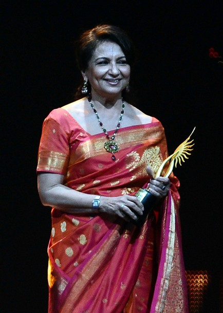 Sharmila Tagore at IIFA 2011, wearing a lovely Kanjivaram Silk Sari