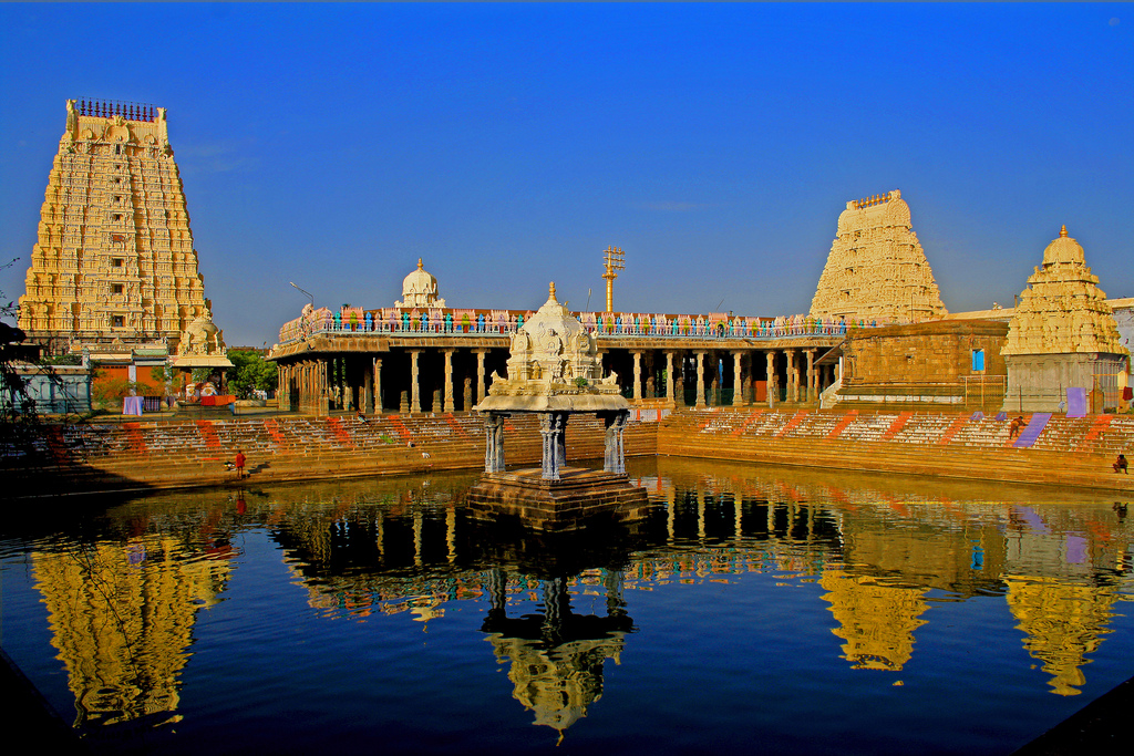 Kanchipuram - the city of a thousand temples. In this pic, Sri Ekambaranathar Temple