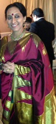Bombay Jayashree at the Pre-Oscar party